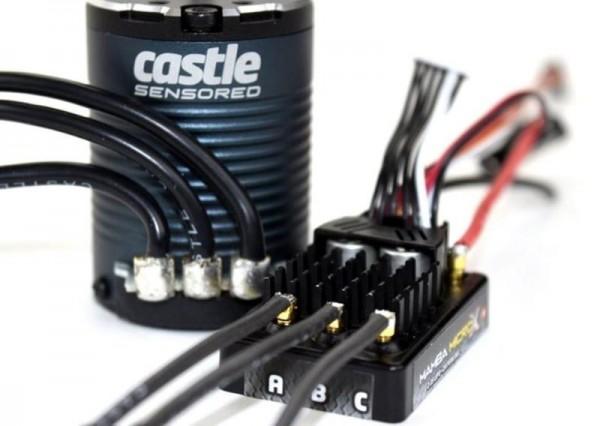 Castle Creations - MAMBA MICRO X Crawler Edition - 12.6V ESC W/1406-2850KV SENSORED COMBO
