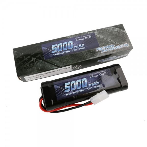 Gens ace Akku NiMh 7.2V-5000Mah (Tamiya) 135x48x25mm 420g