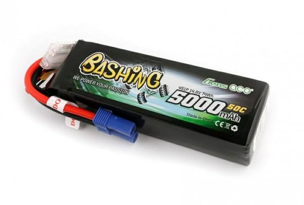 GENS ACE 4S 14.8V 5000mAh 50C EC5 Bashing Lipo