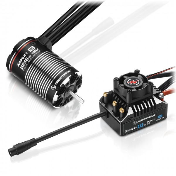 Hobbywing Xerun Axe540L R2-1400kV FOC Combo für Rock Crawler