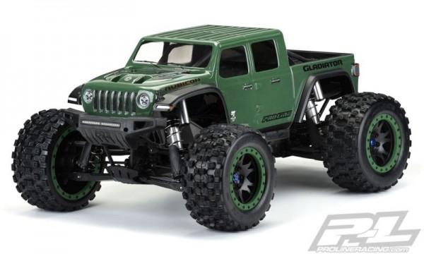 Pro-Line Jeep Gladiator Rubicon Karo klar Pre-Cut für X-MAXX