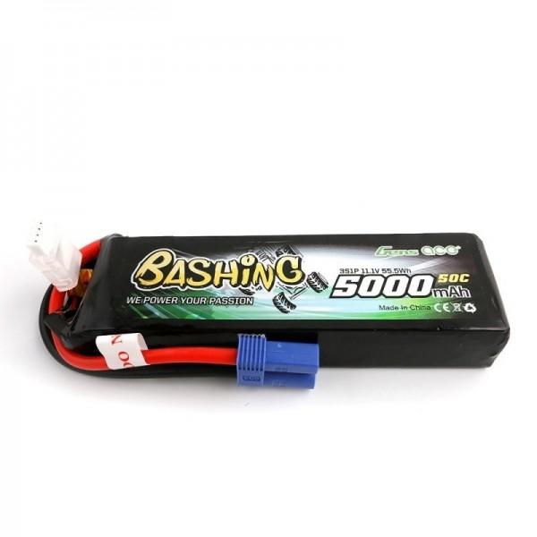 GENS ACE 3S 11.1V 5000mAh 50C EC5 Bashing Lipo