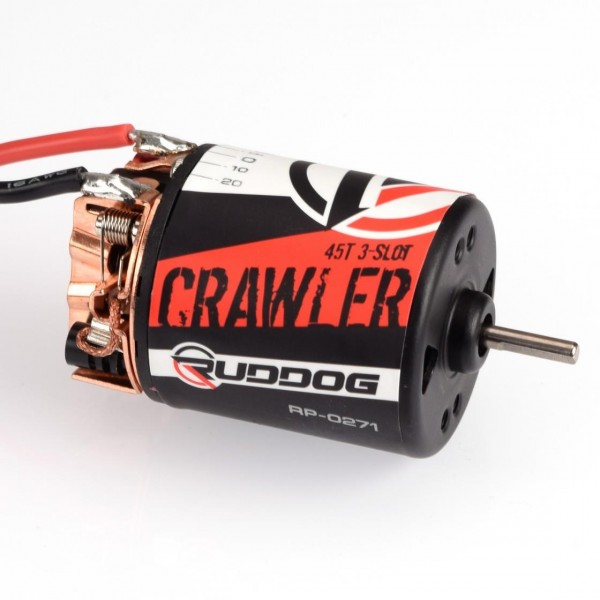RUDDOG Crawler 45T 3-Slot Brushed Motor 9800 RPM/7,4V