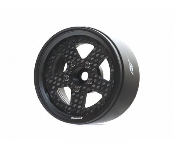 "Boom Racing ProBuild™ 1.9"" CF5 Beadlock Felge (2) Matte Black/Carbon"