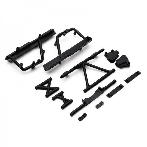 Cage Supports, Battery Tray (Black): RBX10 RYFT