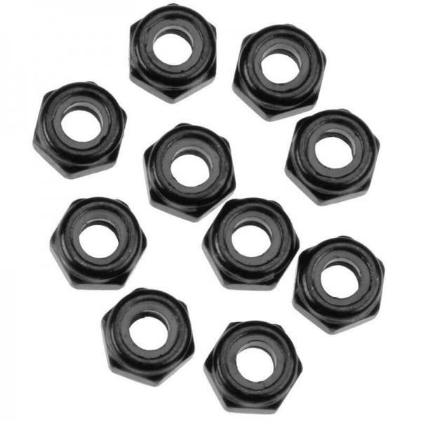 Nylon Locking Hex Nut M3 Black (10)