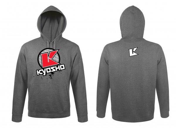 Kyosho Sweatshirt mit Kapuze Hoodie K-CIRCLE (XXL) Grau