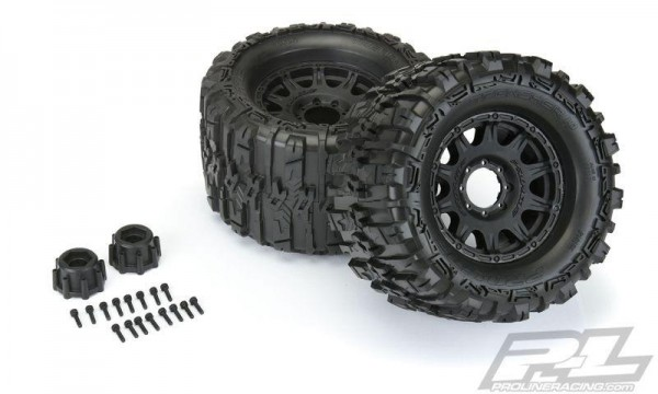 Pro-Line Trencher BELTED 3.8Zoll auf Raid 8x32 Felge 17mm MT v/h (Removeable Hex)