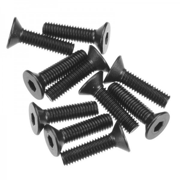 Hex Socket Flat Head M3x12mm Black (10)