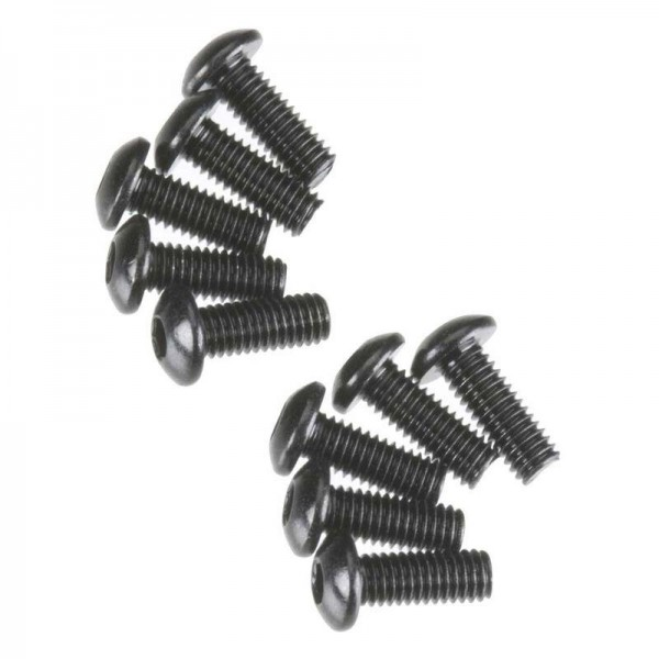 Hex Socket Button Head M3x8mm Black Oxide (10)