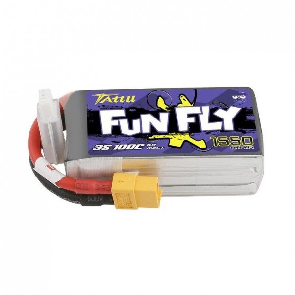 Tattu Funfly Series 1550mAh 11.1V 100C 3S1P Lipo Battery Pack with XT60 Plug