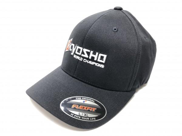 KYOSHO FLEXFIT CAP L/XL - SCHWARZ