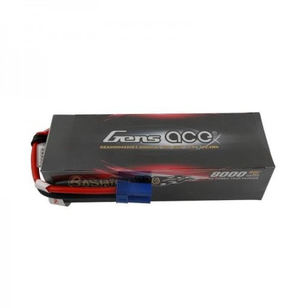 Gens Ace 8000mAh 14.8V 4S2P 80C Lipo Battery Pack with EC5 Plug-Bashing Pro Series