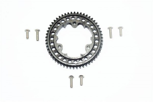 HARDEN STEEL #45 SPUR GEAR 54T (1.0 METRIC PITCH ) - 1PC GPM TRX 1/10 E-REVO black